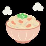 ほかほかの混ぜご飯(炊き込みご飯)のイラスト
