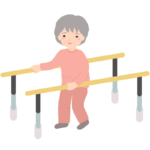 リハビリなどの歩行訓練のイラスト