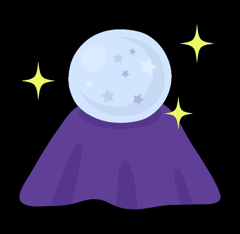 占いの水晶(クリスタル)のイラスト