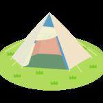 キャンプ・テントのイラスト