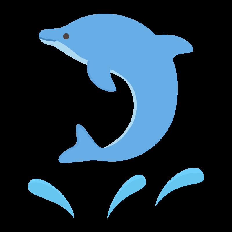 ジャンプしているイルカのイラスト