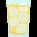 ハイボール(グラス)のイラスト