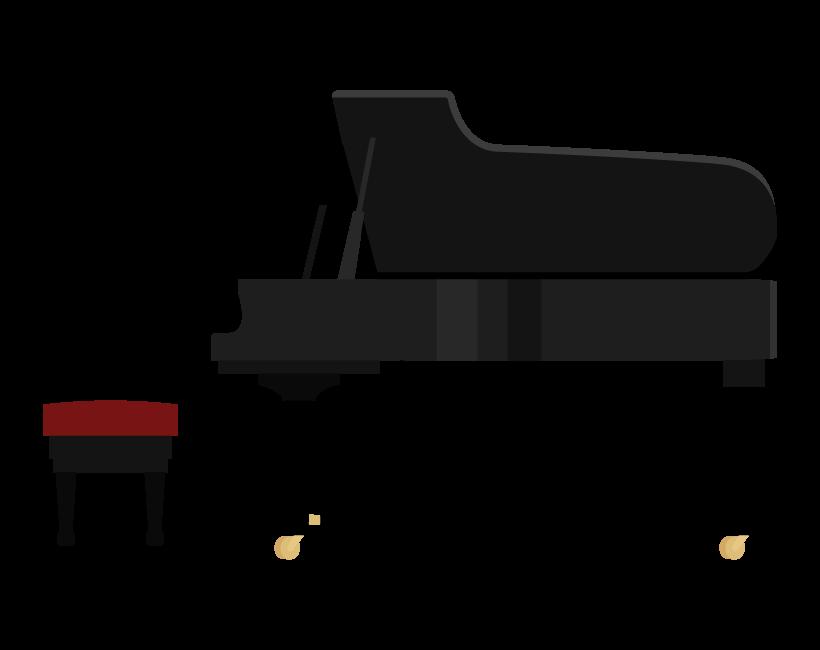 音楽・グランドピアノのイラスト
