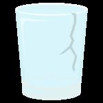 ひび割れたコップのイラスト