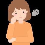 モヤモヤ・悩んでいる女性のイラスト