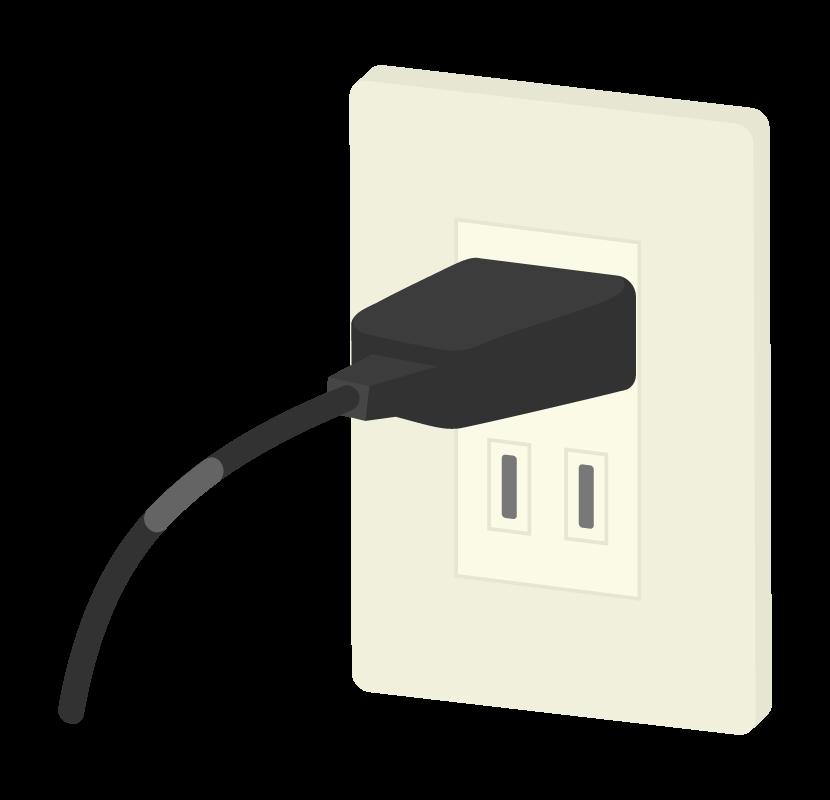 コンセントと電源プラグのイラスト