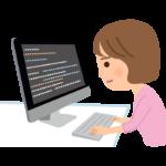 プログラマー(女性)のイラスト
