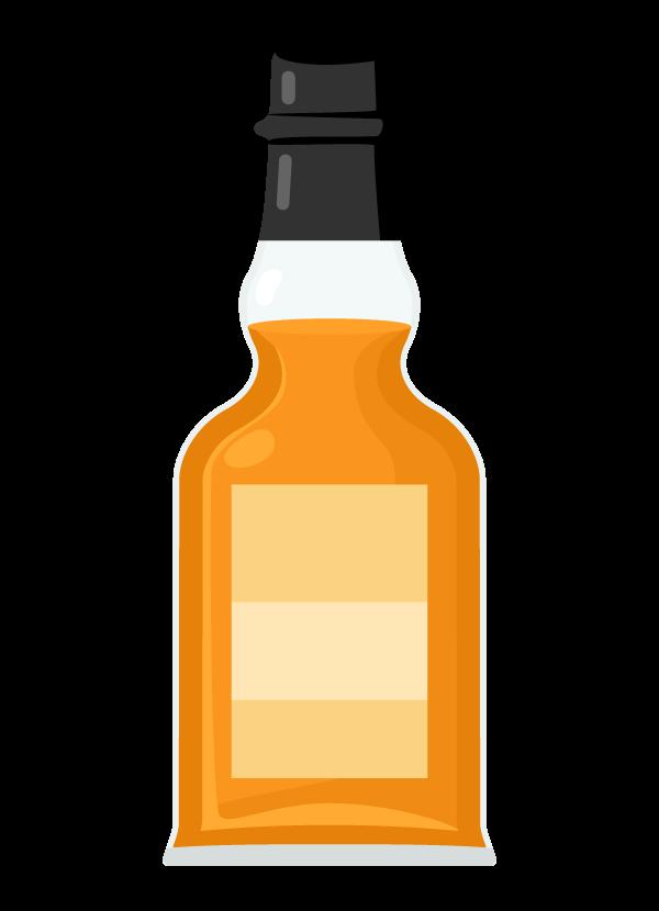 ウイスキー・スコッチ(ボトル)のイラスト