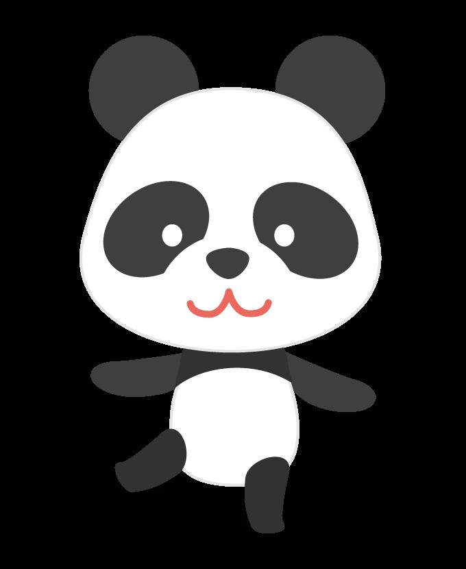 立ち姿のかわいいパンダのイラスト