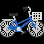 かご付きの自転車のイラスト