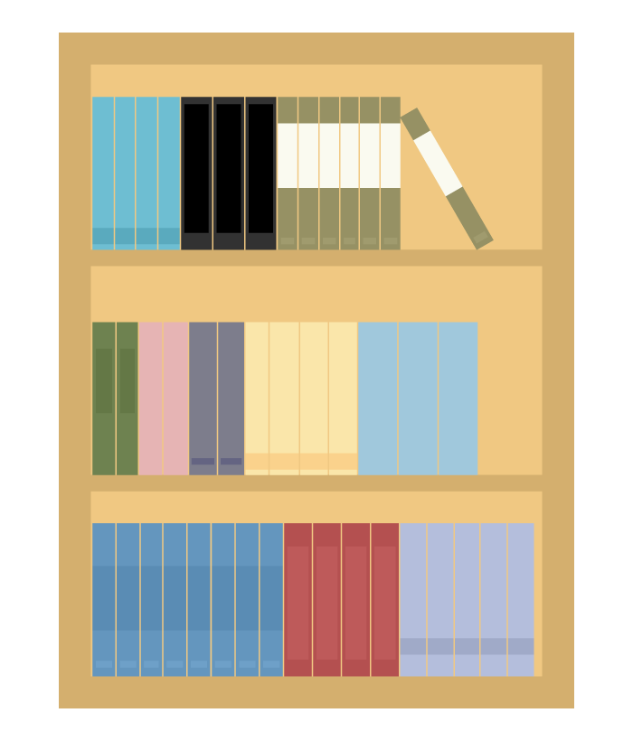 本棚のイラスト