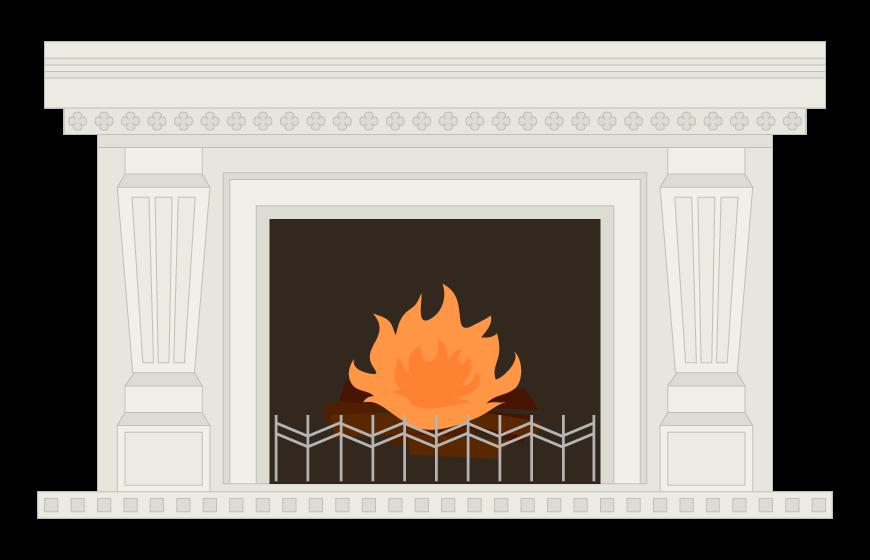暖炉のイラスト