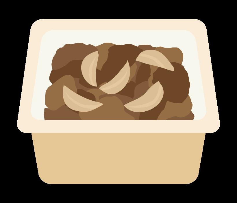 テイクアウトの牛丼のイラスト
