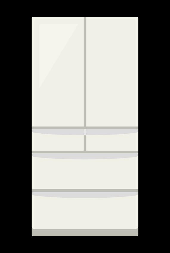 大型冷蔵庫のイラスト