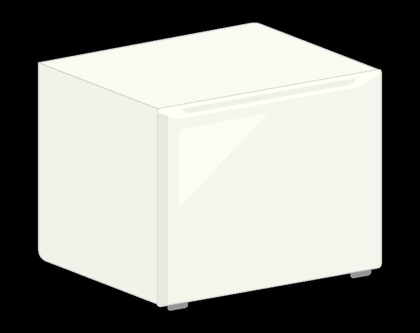 小型の冷蔵庫のイラスト