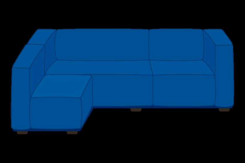 L字型のソファーのイラスト