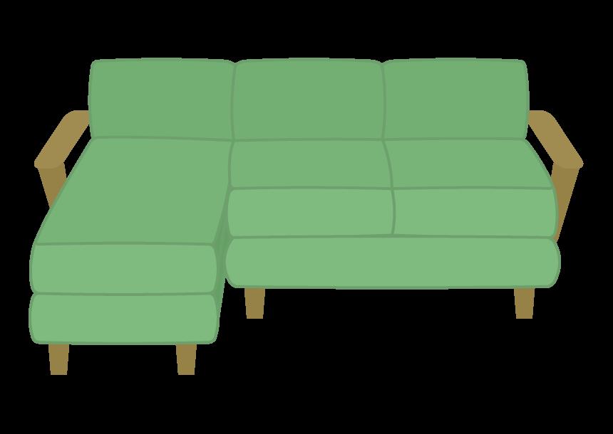大きなソファーのイラスト