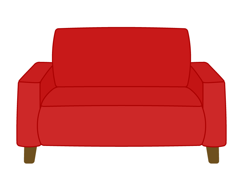 二人掛けソファーのイラスト