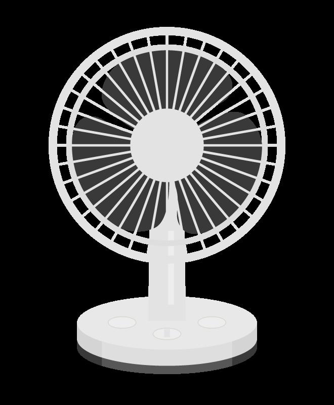 小型の扇風機のイラスト