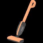 家電・スティックタイプの掃除機のイラスト