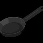 鉄のフライパンのイラスト