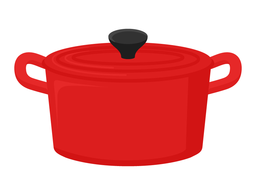 赤いお鍋のイラスト