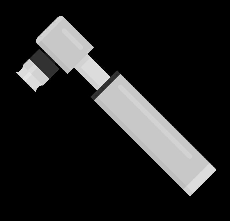 ボンベ式の空気入れのイラスト