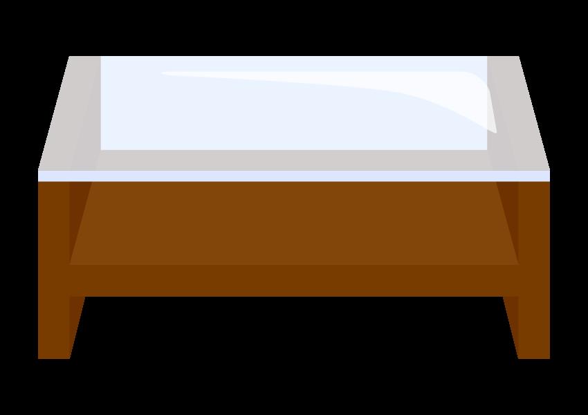 ガラスのローテーブルのイラスト