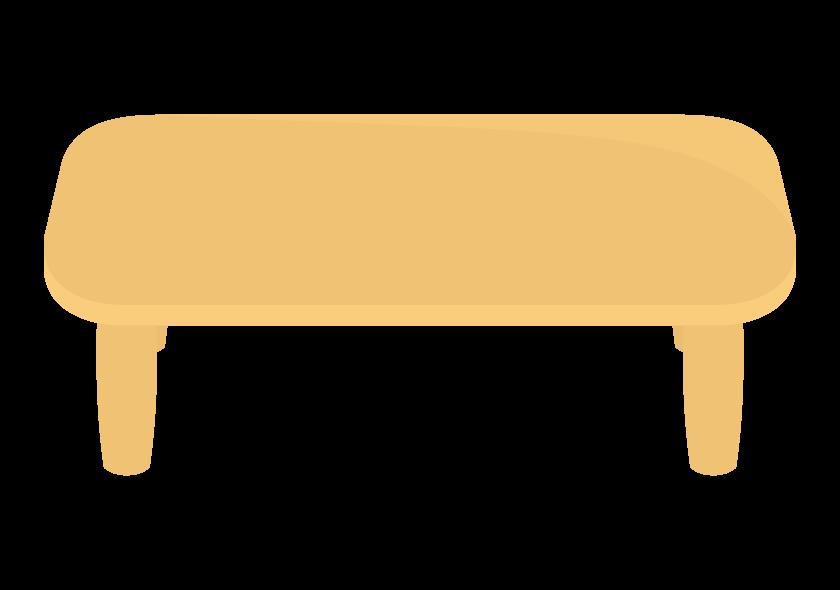 木のローテーブルのイラスト