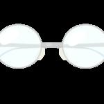 おしゃれな丸メガネのイラスト