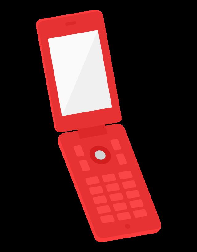 折りたたみのガラケー(携帯電話)のイラスト
