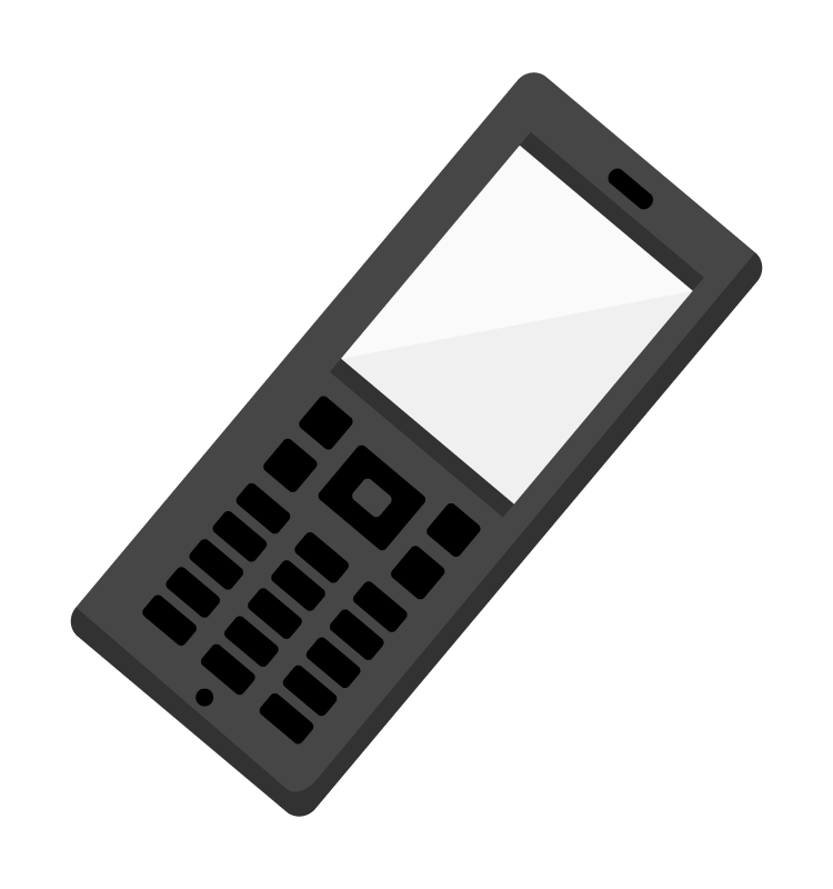 ガラケー(携帯電話)のイラスト