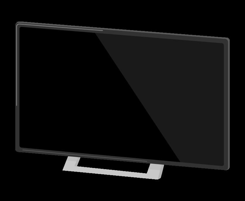 家電・薄型の大型テレビのイラスト