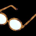 丸メガネのイラスト