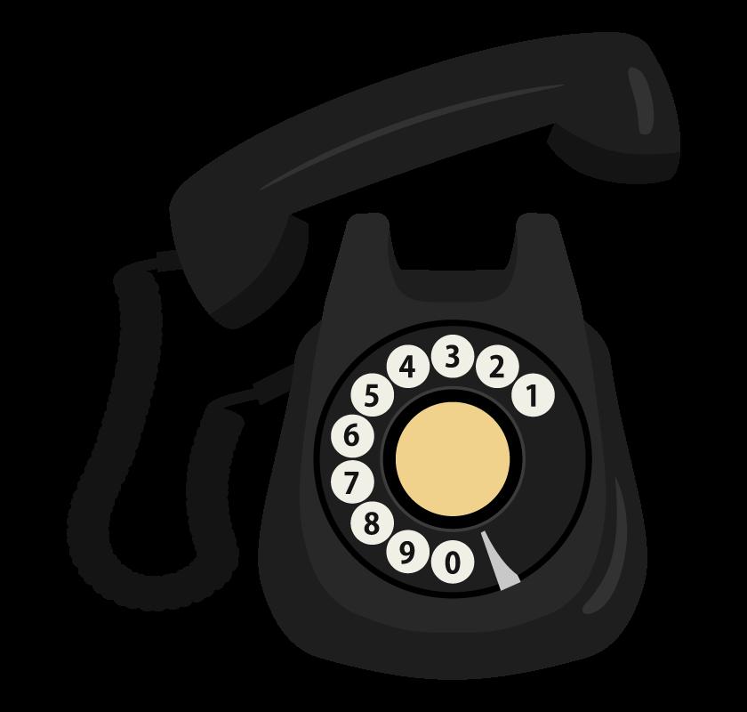 黒電話のイラスト02