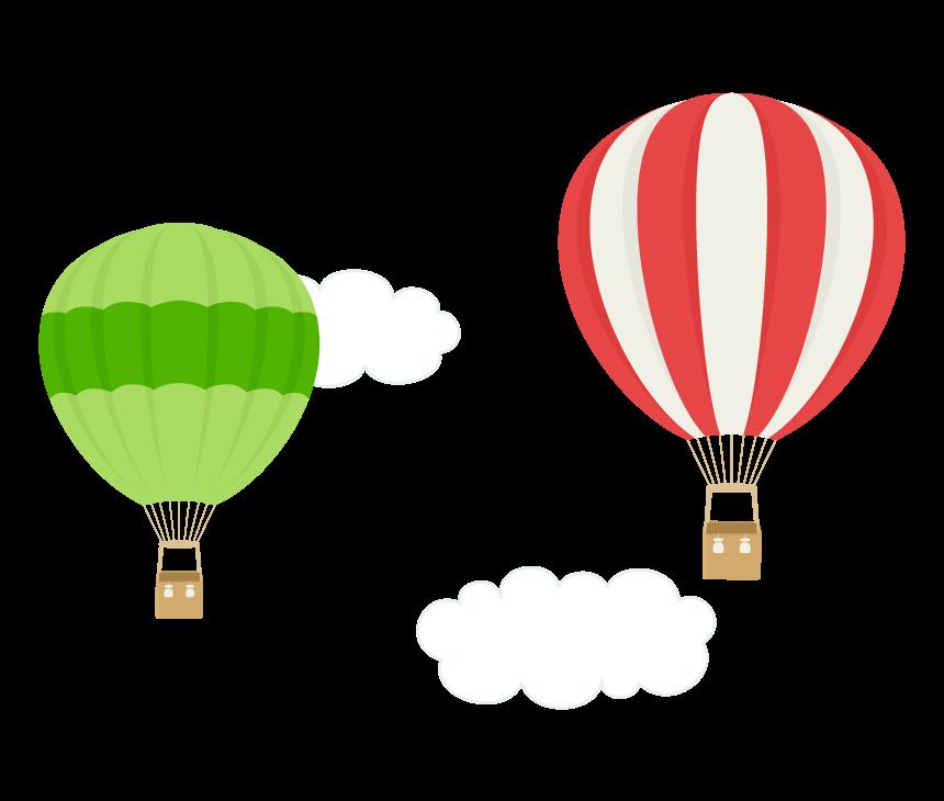 空飛ぶ気球のイラスト