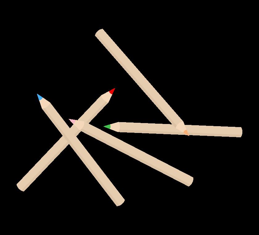 色鉛筆のイラスト