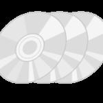 CD・DVDなどのディスクのイラスト