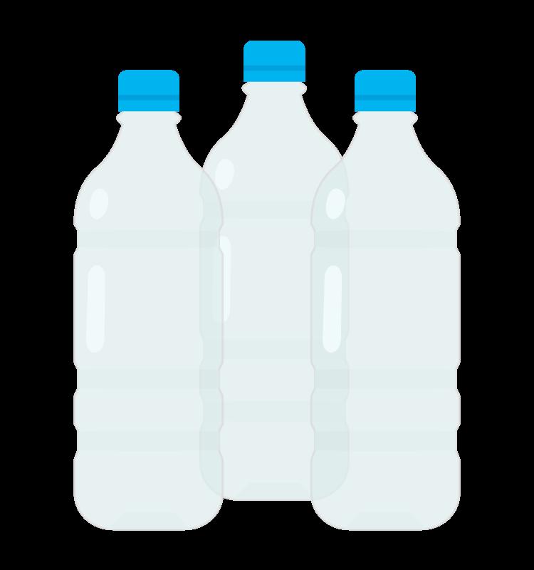 ペットボトル(3本)のイラスト