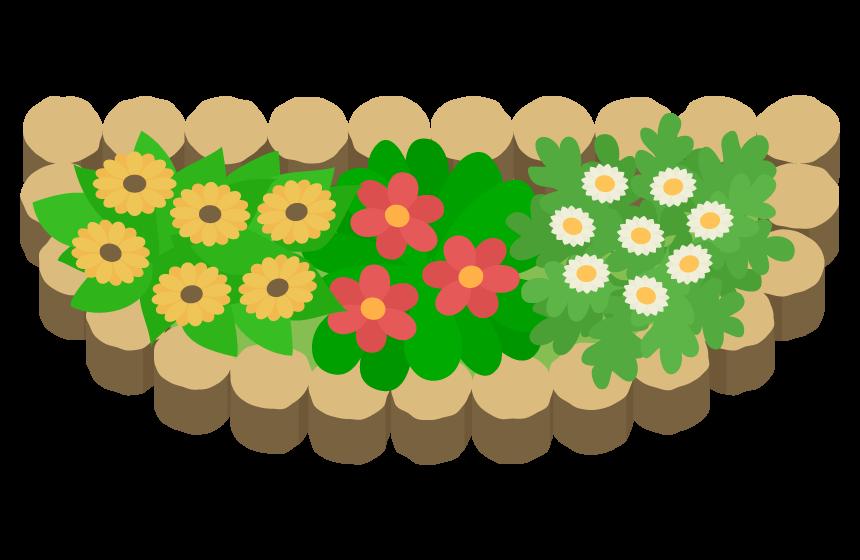 花壇のイラスト