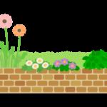 レンガの花壇のイラスト