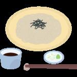 ざる蕎麦のイラスト