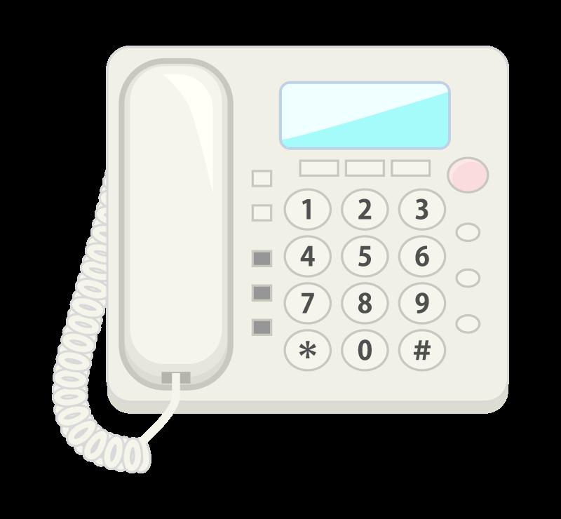 家庭用電話機のイラスト