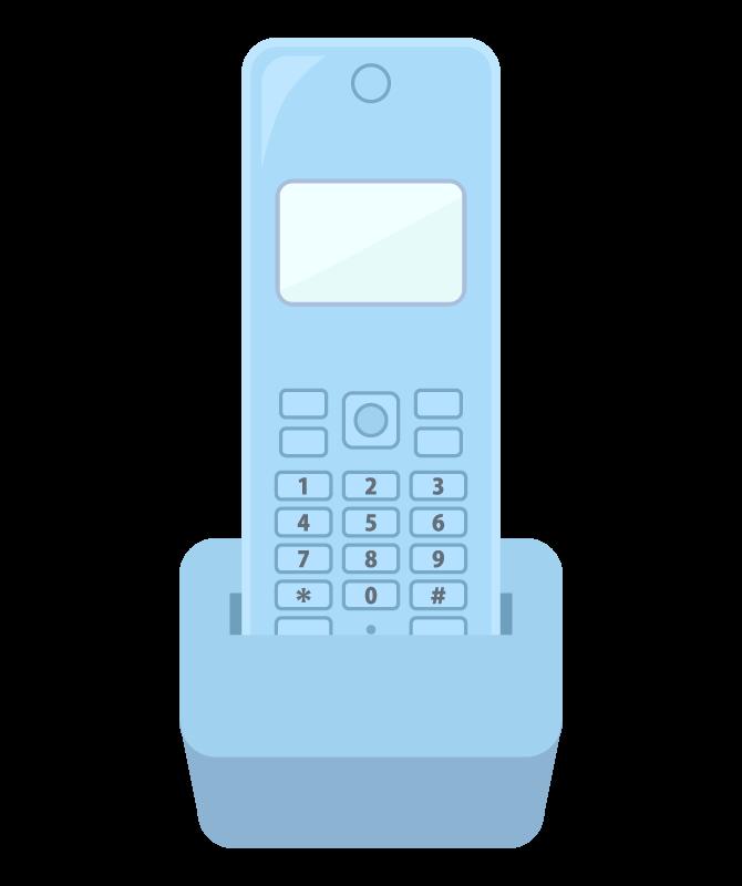 家庭用電話機の子機のイラスト