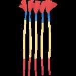 火がついていない線香花火のイラスト