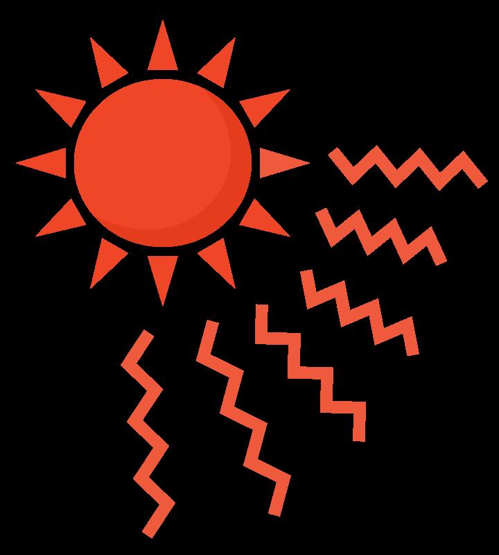 真夏・猛暑日のイラスト