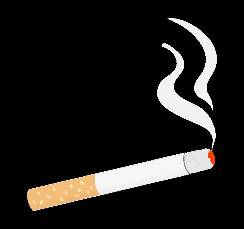 火が付いたタバコのイラスト