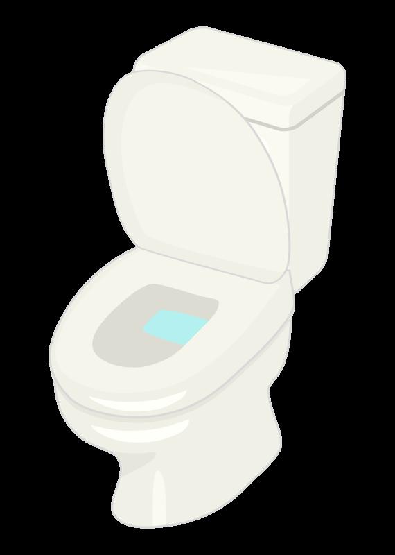 便座が上がっているトイレのイラスト