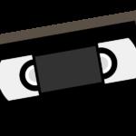 ビデオテープ(VHS)のイラスト
