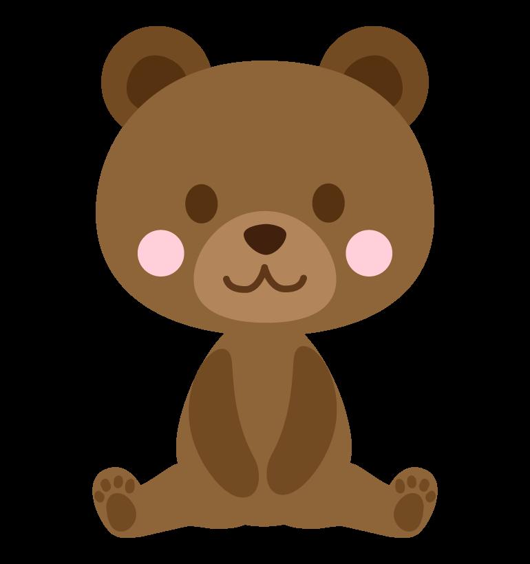 かわいいクマ(熊)のイラスト
